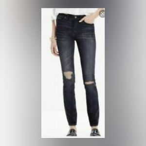 Madewell high rise skinny black jeans Kincaid wash